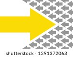 drawing arrows change concepts | Shutterstock .eps vector #1291372063