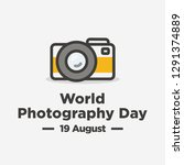 world photography day 19 august ... | Shutterstock .eps vector #1291374889