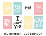 greeting love vector hand... | Shutterstock .eps vector #1291384309