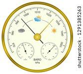 circular analog barometer... | Shutterstock .eps vector #1291385263