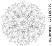 vector drawing flowers  floral... | Shutterstock .eps vector #1291387390