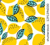 seamless pattern with whole... | Shutterstock .eps vector #1291396030
