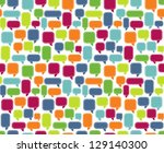 seamless comment background | Shutterstock .eps vector #129140300