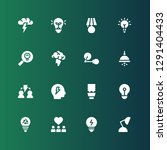 invention icon set. collection... | Shutterstock .eps vector #1291404433