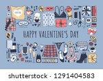 hand drawn fashion illustration ... | Shutterstock .eps vector #1291404583