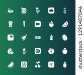 ripe icon set. collection of 25 ... | Shutterstock .eps vector #1291407046