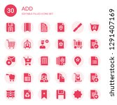 add icon set. collection of 30... | Shutterstock .eps vector #1291407169
