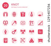 knot icon set. collection of 20 ... | Shutterstock .eps vector #1291407256