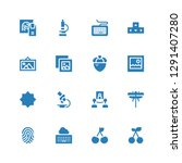 macro icon set. collection of... | Shutterstock .eps vector #1291407280