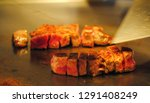 super delicious kobe steak set... | Shutterstock . vector #1291408249