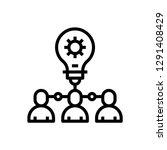 light bulb team concept line...