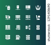dashboard icon set. collection... | Shutterstock .eps vector #1291408690