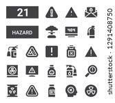 hazard icon set. collection of... | Shutterstock .eps vector #1291408750