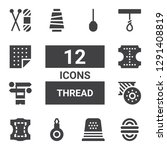 thread icon set. collection of... | Shutterstock .eps vector #1291408819