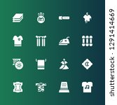 textile icon set. collection of ... | Shutterstock .eps vector #1291414669