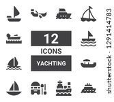 yachting icon set. collection... | Shutterstock .eps vector #1291414783