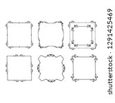 set of vintage frames | Shutterstock .eps vector #1291425469