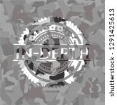 in depth on grey camouflaged... | Shutterstock .eps vector #1291425613
