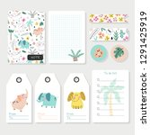 childish notes  stickers ...   Shutterstock .eps vector #1291425919