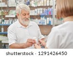 pensioner looking at... | Shutterstock . vector #1291426450