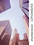 modern and old new york... | Shutterstock . vector #1291440253