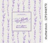 wedding invitation with blossom ... | Shutterstock .eps vector #1291446970