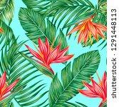 floral vector seamless pattern... | Shutterstock .eps vector #1291448113
