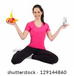 happy young fitness woman with