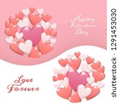 happy valentine's day concept.... | Shutterstock .eps vector #1291453030