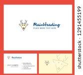 reindeer logo design with... | Shutterstock .eps vector #1291455199