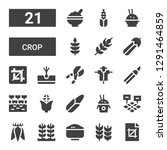 crop icon set. collection of 21 ... | Shutterstock .eps vector #1291464859