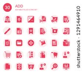 add icon set. collection of 30... | Shutterstock .eps vector #1291464910