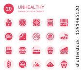 unhealthy icon set. collection...   Shutterstock .eps vector #1291465120
