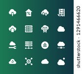 upload icon set. collection of... | Shutterstock .eps vector #1291466620