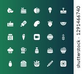 fruit icon set. collection of... | Shutterstock .eps vector #1291466740