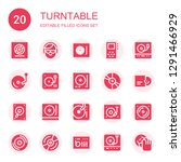 turntable icon set. collection... | Shutterstock .eps vector #1291466929