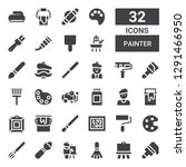 painter icon set. collection of ... | Shutterstock .eps vector #1291466950