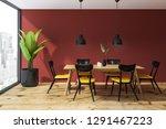 loft dining room interior with... | Shutterstock . vector #1291467223