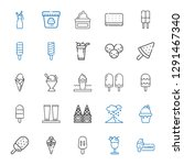 frozen icons set. collection of ... | Shutterstock .eps vector #1291467340