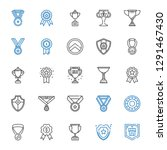 honor icons set. collection of... | Shutterstock .eps vector #1291467430