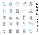 can icons set. collection of... | Shutterstock .eps vector #1291469359