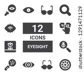 eyesight icon set. collection... | Shutterstock .eps vector #1291471129