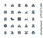 backpack icon set. collection... | Shutterstock .eps vector #1291471180