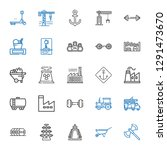 heavy icons set. collection of... | Shutterstock .eps vector #1291473670