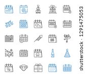 year icons set. collection of...