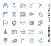 map icons set. collection of... | Shutterstock .eps vector #1291475770