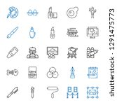paint icons set. collection of... | Shutterstock .eps vector #1291475773