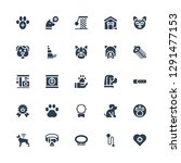 paw icon set. collection of 25... | Shutterstock .eps vector #1291477153