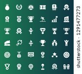 champion icon set. collection... | Shutterstock .eps vector #1291477273