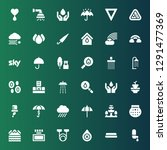 rain icon set. collection of 36 ... | Shutterstock .eps vector #1291477369